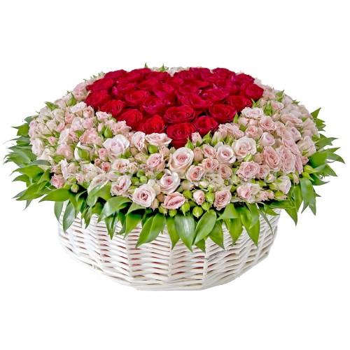Купить на заказ Заказать Корзина с цветами 9 с доставкой по Атырау с доставкой в Атырау