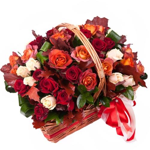 Купить на заказ Заказать Корзина с цветами 10 с доставкой по Атырау с доставкой в Атырау