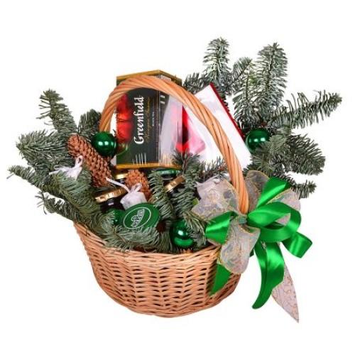 Купить на заказ Заказать Корзина «Подарок под елку» с доставкой по Атырау с доставкой в Атырау