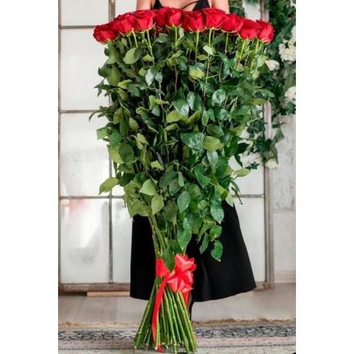 Купить на заказ Заказать 15 полтораметровых роз с доставкой по Атырау с доставкой в Атырау