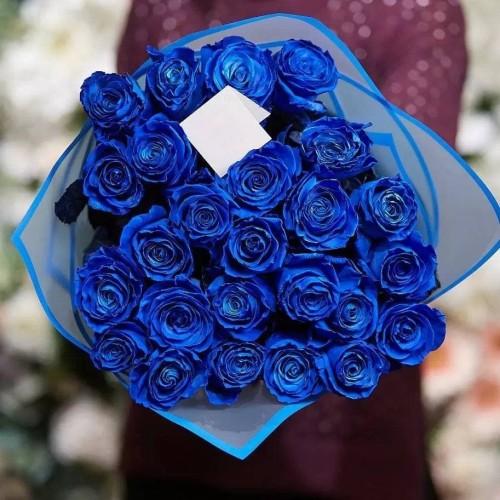 Купить на заказ Заказать 25 синих роз с доставкой по Атырау с доставкой в Атырау