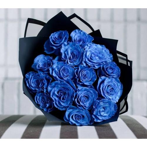 Купить на заказ Заказать 15 синих роз с доставкой по Атырау с доставкой в Атырау