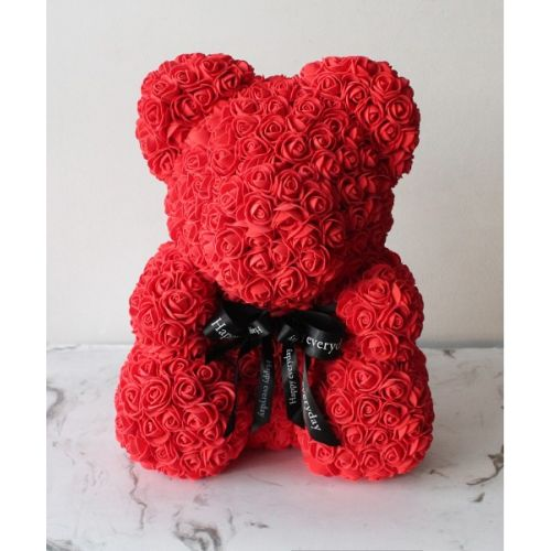 Купить на заказ Мишка из роз с доставкой в Атырау