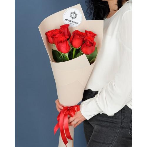 Купить на заказ Заказать Букет из 7 роз с доставкой по Атырау с доставкой в Атырау