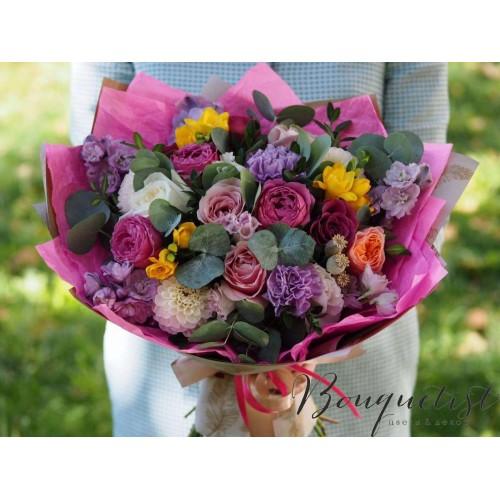 Купить на заказ Цветочный микс из гвоздик  с доставкой в Атырау