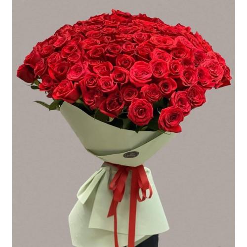 Купить на заказ Заказать 101 метровая роза с доставкой по Атырау с доставкой в Атырау